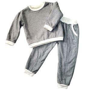 Sweatsuit Kids Knit Fur Lined Long Sleeve Sweats